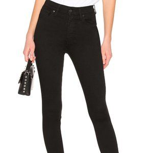 Levi's Black Mile High Super Skinny Jeans